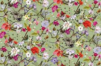 Forbo Flotex Floral 500018 Field Cranberry, 840003 Botanical Orchid