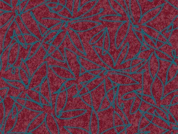 Forbo Flotex Floral 500018 Field Cranberry