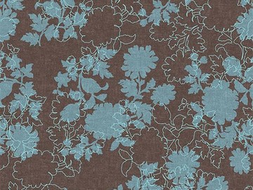 Forbo Flotex Floral 650007 Silhouette Mocha