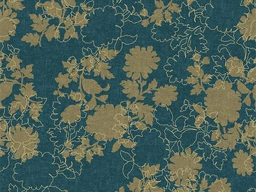Forbo Flotex Floral 650009 Silhouette Neptune
